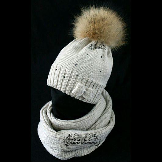 Шапки и шарфы ручной работы. Ярмарка Мастеров - ручная работа. Купить мериносовая шапочка для девочки. Handmade. Мериносовая шапочка