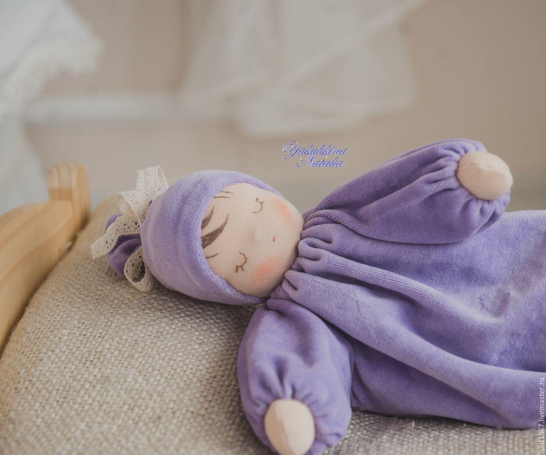 """Сплюшка """"Сиреневая соня"""" - вальдорфская куколка, Вальдорфские куклы и звери, Самара,  Фото №1"""