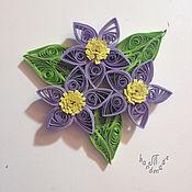 Сувениры и подарки ручной работы. Ярмарка Мастеров - ручная работа Магнит с цветком. Handmade.