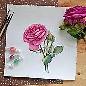 """Картины и панно ручной работы. Ярмарка Мастеров - ручная работа """"Роза"""". Handmade."""