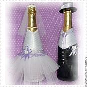 Украшение шампанского на свадьбу своими руками мастер