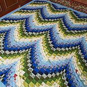 """Для дома и интерьера ручной работы. Ярмарка Мастеров - ручная работа Лоскутное покрывало """" Морская волна"""". Handmade."""