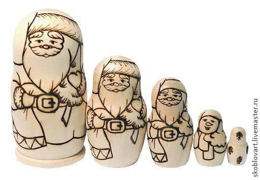"""Развивающие игрушки ручной работы. Ярмарка Мастеров - ручная работа. Купить Набор для творчества """"Распиши матрешку"""" Санта Клаус. Handmade."""