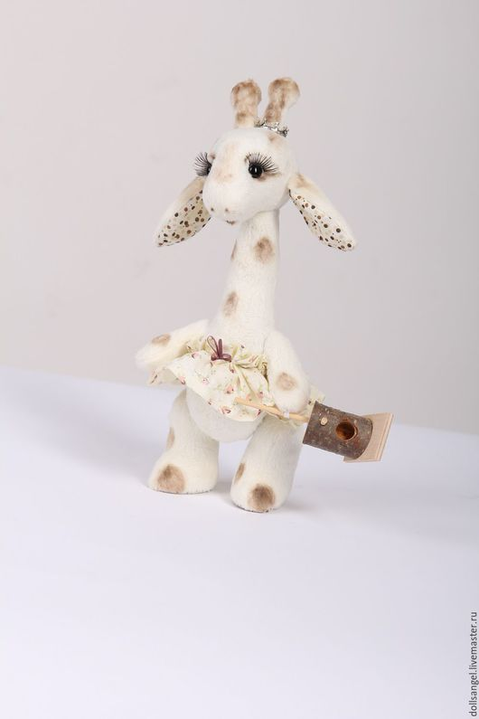 Игрушки животные, ручной работы. Ярмарка Мастеров - ручная работа. Купить Жирафушка Боня. Handmade. Белый, жираф ручной работы