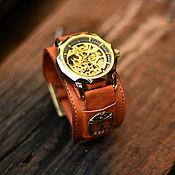 ручной работы. Ярмарка Мастеров - ручная работа Наручные механические часы на широком браслете Vitruvian new. Handmade.