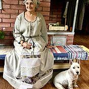 """Одежда ручной работы. Ярмарка Мастеров - ручная работа Платье льняное """"МАМА"""". Handmade."""