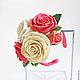 Свадебные украшения ручной работы. Заказать Браслет с розами из полимерной глины. Юлия Шепелева Lovely Flowers Lab. Ярмарка Мастеров.