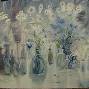"""Картины и панно ручной работы. Ярмарка Мастеров - ручная работа акварель """"Сны...цветы..."""". Handmade."""