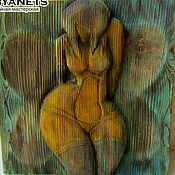 """Картины и панно ручной работы. Ярмарка Мастеров - ручная работа Деревянное панно """"Женщина-бабочка"""". Handmade."""