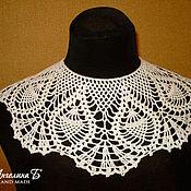 Аксессуары ручной работы. Ярмарка Мастеров - ручная работа Белый кружевной воротничок в винтажном стиле. Handmade.