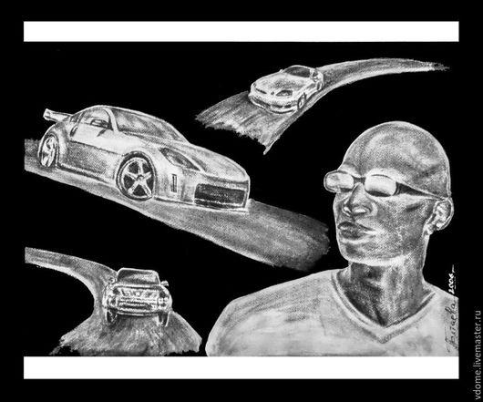 картина art-graphics пастель: Брутальные гонки
