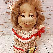 """Для дома и интерьера ручной работы. Ярмарка Мастеров - ручная работа Текстильная кукла  """"Чайная Бабушка-6"""" для чайных пакетиков. Handmade."""