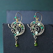 Украшения handmade. Livemaster - original item Earrings Backwater Undine (mini-version). Handmade.