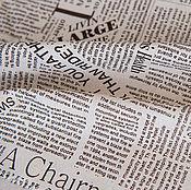 """Материалы для творчества ручной работы. Ярмарка Мастеров - ручная работа Лен """"Газетный"""". Handmade."""