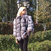Одежда ручной работы. Ярмарка Мастеров - ручная работа Куртка из финской чернобурки. Handmade.