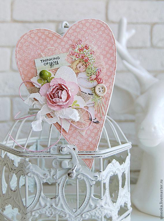 Сердце открытка скрапбукинг