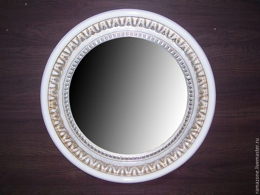 Зеркала ручной работы. Ярмарка Мастеров - ручная работа. Купить Зеркало в круглой раме (артикул RZ14). Handmade. Зеркало