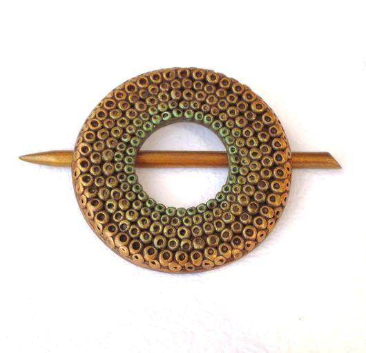 Заколки ручной работы. Ярмарка Мастеров - ручная работа. Купить Заколка-Фибула для шали Соцветие (для вязаных изделий). Handmade.