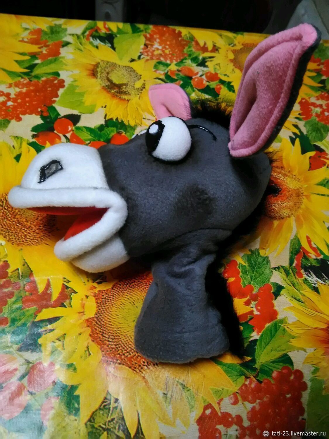 donkey. Doll on hand. Puppets.  A muppet, Puppet show, Voronezh,  Фото №1