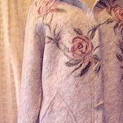 Одежда ручной работы. Ярмарка Мастеров - ручная работа полупальто с розами. Handmade.