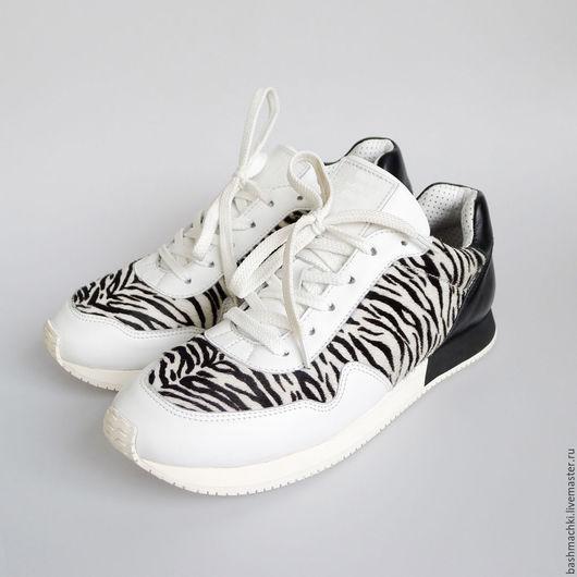 """Обувь ручной работы. Ярмарка Мастеров - ручная работа. Купить Кроссовки женские """"aircross""""  #73. Handmade. Чёрно-белый"""