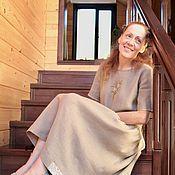 Одежда handmade. Livemaster - original item Linen dress