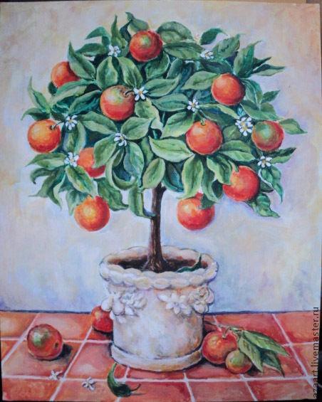 Апельсиновое деревце(Копия картины Churchill Alexandra, Картины, Уфа, Фото №1