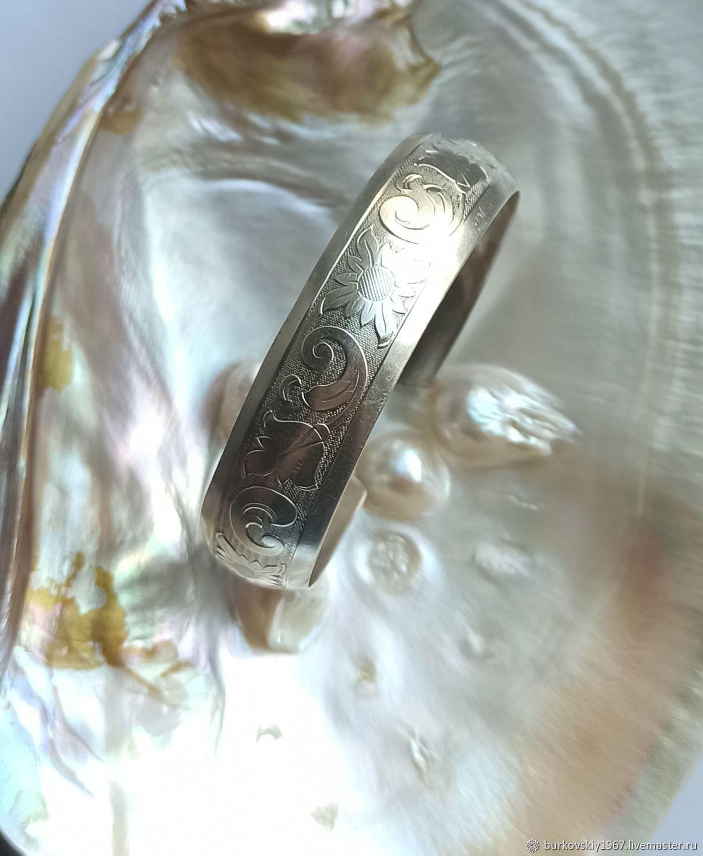 Винтаж: Браслет серебро 835 Браслет-обруч Германия, 1970-е гг, Браслеты винтажные, Москва,  Фото №1