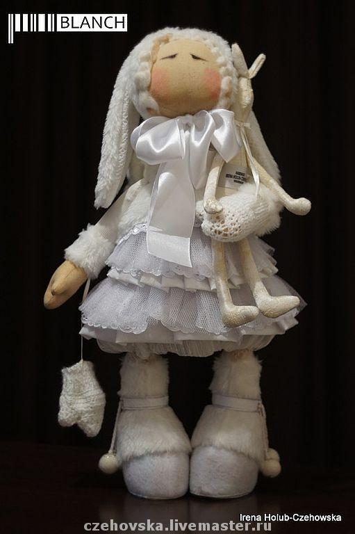 Коллекционные куклы ручной работы. Ярмарка Мастеров - ручная работа. Купить куколка Blanch. Handmade. Кукла, белый, флис