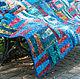"""Текстиль, ковры ручной работы. Одеяло """"Воспоминания"""". Ирина Супряга. Ярмарка Мастеров. Синий, одеяло пэчворк, тинсулейт"""