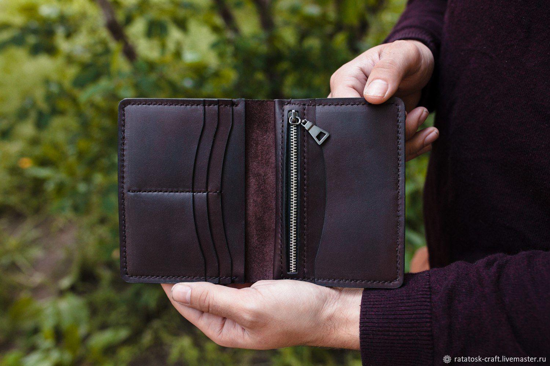 Wallets & Business Card Holders handmade. Livemaster - handmade. Buy WALLET MENS LEATHER - Documentsize LYON.Purse, documentsize