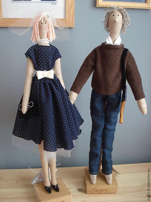 Портретные куклы ручной работы. Ярмарка Мастеров - ручная работа. Купить Юбилей свадьбы (портретные куклы). Handmade. Портретные куклы
