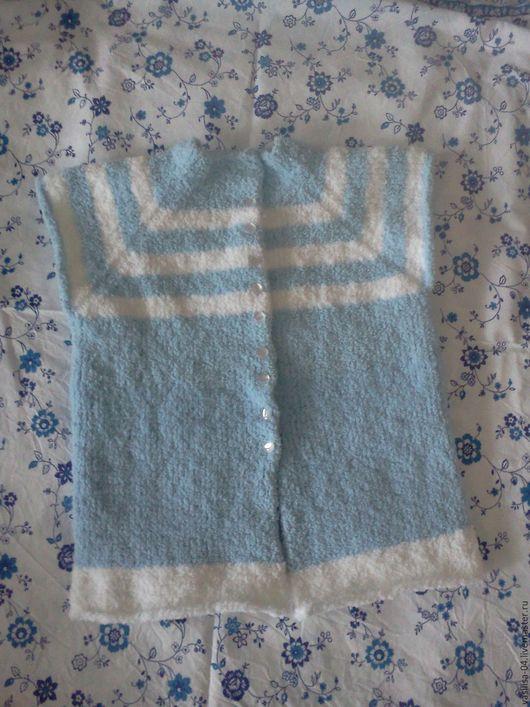 Одежда для девочек, ручной работы. Ярмарка Мастеров - ручная работа. Купить Детская желетка-пальто на пуговицах без рукавов. Handmade.