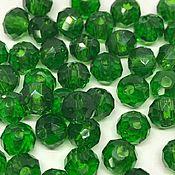 Бусины ручной работы. Ярмарка Мастеров - ручная работа Рондели зеленые, стекло, 6 мм, 10 шт. Handmade.