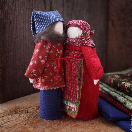 """Народные куклы ручной работы. Ярмарка Мастеров - ручная работа. Купить Куколки -неразлучники """" Рядышком..."""". Handmade. Комбинированный"""