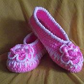 Обувь ручной работы. Ярмарка Мастеров - ручная работа Тапочки домашние. Handmade.