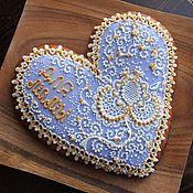 Сувениры и подарки ручной работы. Ярмарка Мастеров - ручная работа Пряник с начинкой-сердце для мамы. Handmade.