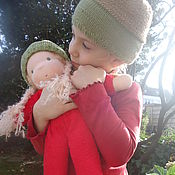 Куклы и игрушки ручной работы. Ярмарка Мастеров - ручная работа Жёлудь с косичками. Текстильная куколка.. Handmade.