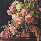 """Картины и панно handmade. Livemaster - original item Embroidered picture """"Roses"""". Handmade."""