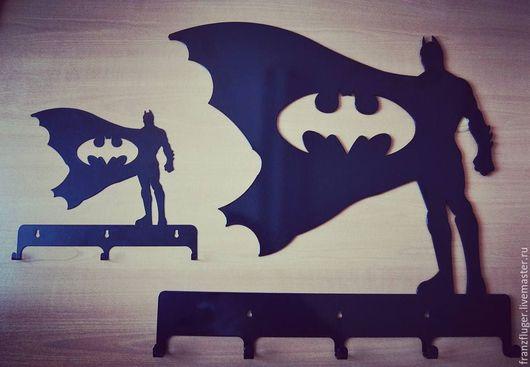 """Прихожая ручной работы. Ярмарка Мастеров - ручная работа. Купить Вешалка """"Бэтмэн"""". Handmade. Америка, вешалка, супергерой, подарок"""