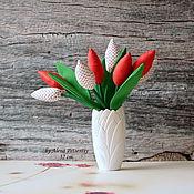 Подарки к праздникам ручной работы. Ярмарка Мастеров - ручная работа Тюльпаны текстильные. Handmade.