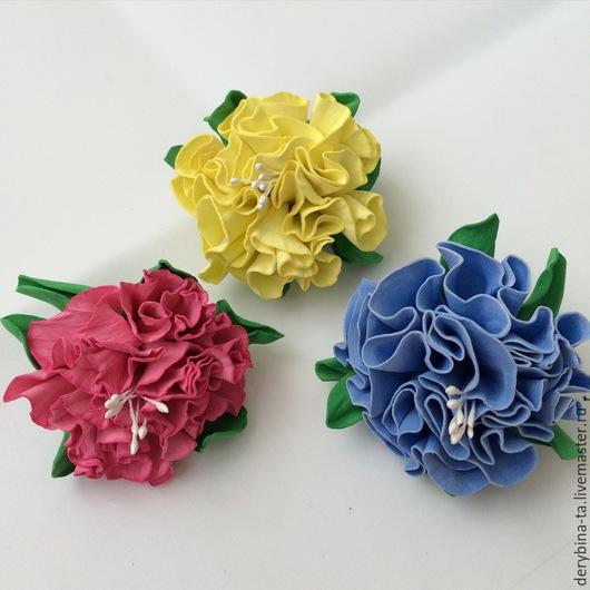 Заколки ручной работы. Ярмарка Мастеров - ручная работа. Купить Цветы из фоамирана. Основа может любая: заколка, ободок и тд.. Handmade.