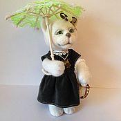 Куклы и игрушки handmade. Livemaster - original item Kitty Blanche with umbrella. Handmade.