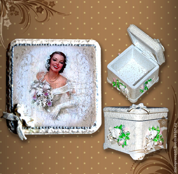 Trinket Boxes handmade. Livemaster - handmade. Buy Box for wedding rings.Gift, white, box, jewelry box