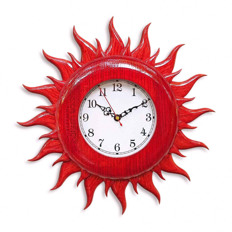 """Часы настенные """"Красное Солнце"""", Часы классические, Новочеркасск,  Фото №1"""