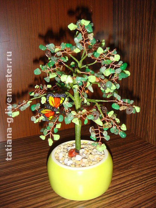 Обереги, талисманы, амулеты ручной работы. Ярмарка Мастеров - ручная работа. Купить Деревья из бисера и натуральных камней. Handmade.