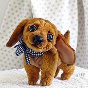Куклы и игрушки ручной работы. Ярмарка Мастеров - ручная работа Щенок Бимбо - друг Малыша. Коллекционная собачка. Handmade.