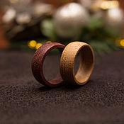 Кольца ручной работы. Ярмарка Мастеров - ручная работа Обручальные кольца из дерева. Handmade.