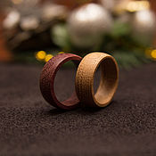 Свадебный салон handmade. Livemaster - original item Wedding rings made of wood. Handmade.