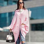 Одежда ручной работы. Ярмарка Мастеров - ручная работа Стильный кардиган КОЛОСОК (розовый). Handmade.